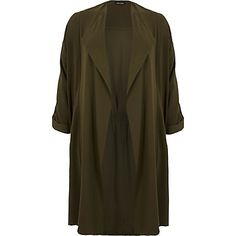 RI Plus khaki duster jacket $130.00