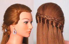 Прическа на каждый день с плетением. Easy every day hairstyle tutorial