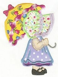 $4 Sunbonnet Baby with Umbrella - 2 Sizes! | Featured Products | Machine Embroidery Designs | SWAKembroidery.com