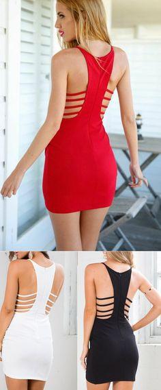 cce177b45df08 Sleeveless V-neck Dress Harness Slim Package Hip Nightclub WREEW on Luulla