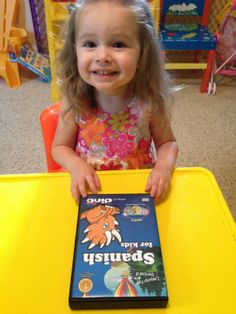 """One of the cutest Dino Lingo reviews of all time! """"My daughter now thinks that Dinosaurs speak Spanish and requests the """"dinosaur music."""" Reading this made my day!"""