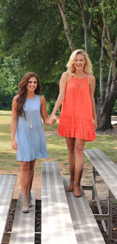 Need a #gameday dress for this fall? Check them out here  MondayDress.com #Orange and #Blue