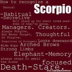 How to recognize a Scorpio. Get in-depth info on Scorpio traits & personality @ http://www.buildingbeautifulsouls.com/zodiac-signs/western-zodiac/scorpio-star-sign-traits-personality-characteristics/