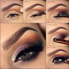 Fall smokey eye tutorial #makeup #evatornadoblog #howto #beauty #mua