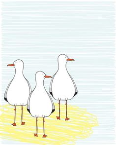 From Three Cats Studio on Etsyhttp://www.etsy.com/listing/66970658/seagulls-digital-illustration-pdf-to?ref=sr_gallery_36&ga_search_query=beach&ga_page=3&ga_search_type=all&ga_facet=