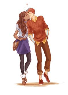 I don't know why but this reminds me of Iris West and Barry Allen