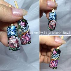 Garra, 3d Nail Art, Nailart, One Stroke Nails, Nail Art Techniques, Nails First, Flower Nail Art, Love Nails, Nail Inspo