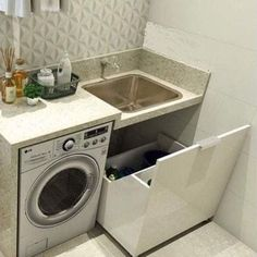 Ordem na lavanderia: ganhe espaço com estratégias bem simples | MdeMulher