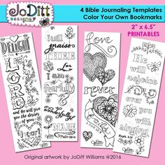 4 Bible Journaling Templates