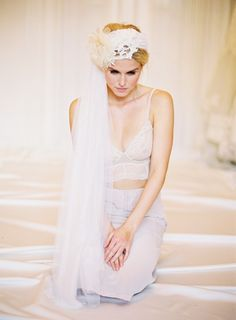 Stunning image by Alicia Swedenborg with a Jannie Baltzer veil. nude flower