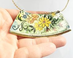 Tin Jewelry necklace recycled from vintage by CellarDoorShoppe