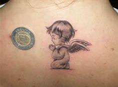 praying baby angel tattoo 30 Sweet Angel Tattoos For Women:
