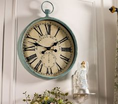 24-inch Roman Numeral Metal Clock by Valerie