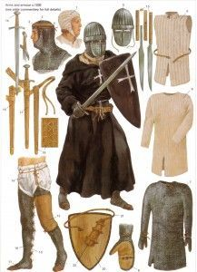 MA - 13th Century Arms & Armor http://www.infohow.org/war-weapons-military/armor-uniform-insignia/ma-13th-century-arms-armor/ #militarydesign #militaryuniforms #military