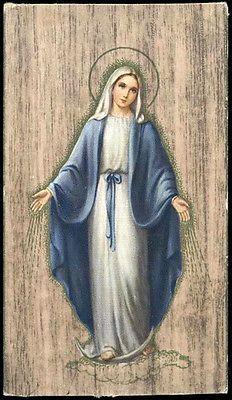"santino-holy card""""ediz. NB serie OAK  n.7 L'IMMACOLATA"