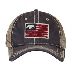 Duck Commander Navy Camo Flag Hat