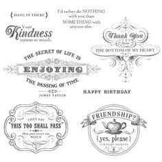 From My Heart Clear-Mount Stamp Set
