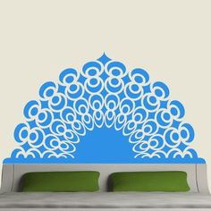 EyvalDecal Dreams Headboard Vinyl Wall Decal Color: Dark Red, Size: King