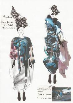 Fashion Sketchbook - fashion design portfolio drawings