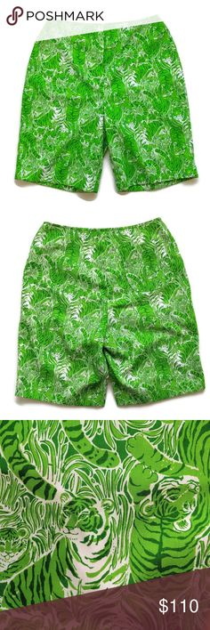 c0a9a6726a28f9 Vintage The Lilly Pulitzer Green Tiger Shorts M Vintage late 60s / early  70s The Lilly