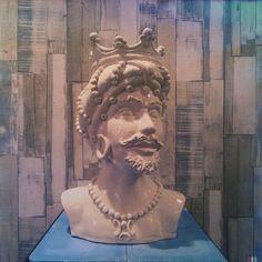 Testa di moro in ceramica realizzata a Caltagirone