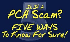 Spot A Publishers Clearing House Scam