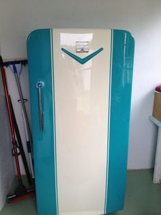 Restored 1952 Sears Coldspot Refrigerator with Top Freezer. Unit has all original cooling system, which works flawlessly. New insulation in the door, new door seal, new cover for fins on the back was ...