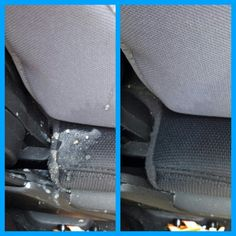 Cleaning car seats with a Norwex Enviro cloth and just water!