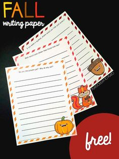 These free fall writing pages are a festive addition to a writing center or Writer's Workshop. The fun story prompts and autumn colors are just the trick to make writing exciting for kids this fall! Perfect for first and second grade! Kindergarten Writing Activities, Writing Worksheets, Teaching Writing, Writing Practice, Literacy, Teaching Resources, Writing Prompts For Kids, Writing Assignments, Writing Ideas