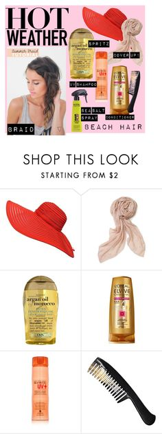 """""""hot beach hair"""" by fullofweakness ❤ liked on Polyvore featuring beauty, Stella & Dot, Organix, L'Oréal Paris, Alterna and KMS California"""