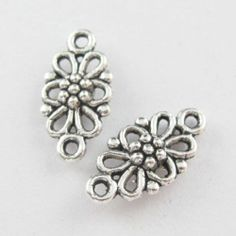 40pcs Tibetan Silver Tone Flower Charms Pendants Connectors 8x16mm L318 01   eBay