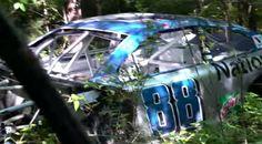 Amelia's final resting place in Dale Jr.'s car graveyard 2016