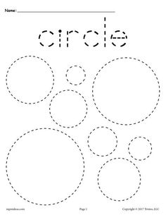 Free Printable Circles Tracing Worksheet
