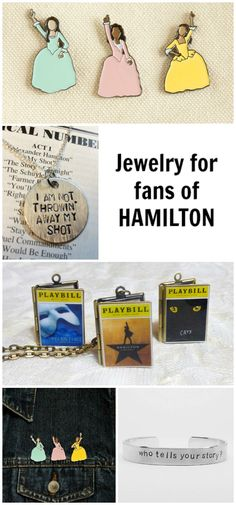 Did you know the musical Hamilton was inspired by a book? Show your love for this bookish Broadway sensation with this amazing Hamilton jewelry.