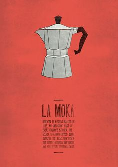 La Moka: Italian Inventions Posters. #poster #illustration #graphic #design