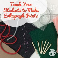 Teach Your Students to Make Collagraph Prints   The Art of Education   Bloglovin'