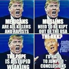 I can't even with this guy! His real name is Donald Drumpf Look it up..