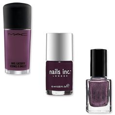 Fall Trend - Plum  The difference between a deep plum and a rich wine? It's all in the undertone. Dark eggplant shades like the Nails Inc.'s Richmond Terrace ($9.50; sephora.com) and MAC's Gadabout Girl ($16; maccosmetics.com starting in late August) have cooler hints mixed into the formula, making them a mysterious counterpart to a warm aubergine. We also love Bobbi Brown's Twilight Night ($18; bobbibrown.com), a sparkling amethyst perfect for a night out.