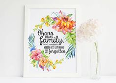 Image result for ohana means family poster