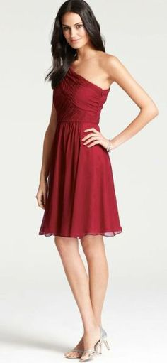 Cranberry Bridesmaid Dress // Ann Taylor