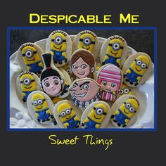 Despicable Me Cookies by SweetThingsCompany on Etsy, $26.00