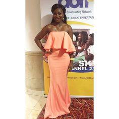 "1,681 Likes, 74 Comments - The QUEEN Hadassah (@thequeenhadassah) on Instagram: ""Last night at the GUBA Awards! Wearing my @jarlolondon dress  #gubaawards #gubaawards2015 #jarlo…"""