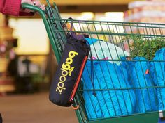 A sturdy, reusable bag set that stays organized. Clip the pod on your cart, remove the bags you need, and put them back when you're done.