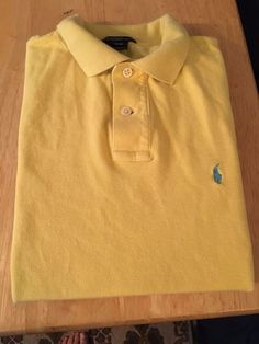 Boys POLO By RALPH LAUREN Polo Golf Shirt. Bright Yellow. Youth Size L (14-16)…