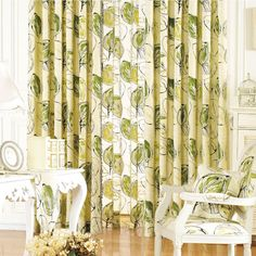 Floral Country Green Energy saving Curtains   #curtains #decor #homedecor #homeinterior #green Green Curtains, Cool Gadgets, Save Energy, Home Goods, Country, Interior, Floral, Prints, Green Print