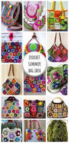 Crochet Colorful Summer Bag Idea #knitting #crochet #knitted #crochetaddict #crochetpattern #crochettutorial