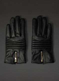 Faux Leather Gloves   New