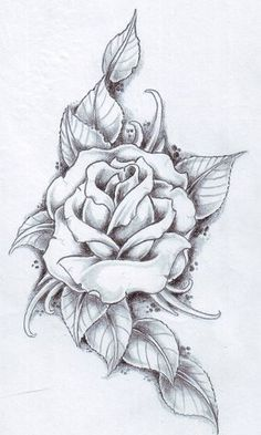 Rose I really want this as a white ink tattoo