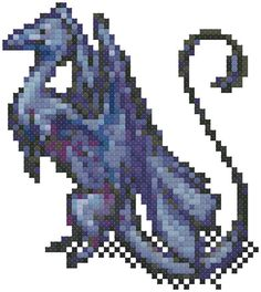 Cross Stitch Pattern: The Blue Dragon by Stichalope on Etsy