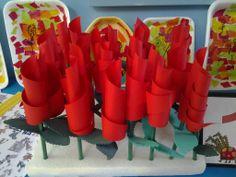 Roses de Sant Jordi. Cicle Inicial Merce Rodoreda Badalona Saint George, Arts And Crafts, Spring, Centre, Children, School, Garden, Paper, Initials